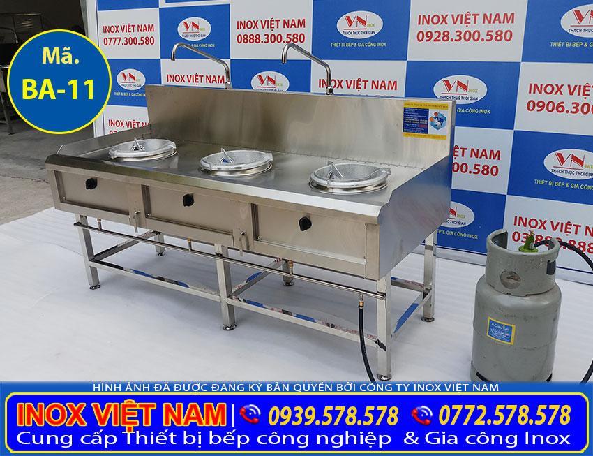 Báo giá bếp á cong nghiệp inox 3 họng đốt, bếp công nghiệp inox 3 họng đốt. Liên Hệ Inox Việt Nam Ngay.