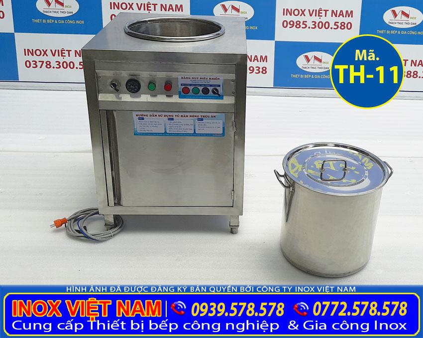 Báo giá tủ giữ nóng cơm canh inox nồi 50 lít, tủ hâm nóng canh nồi 50 lít bằng điện uy tín chuyên nghiệp. Liên hệ Inox Việt Nam.