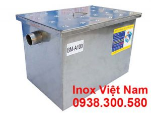 Bẫy mỡ inox âm sàn 100 Lít, bẫy mỡ inox 100 lít lắp đặt âm.