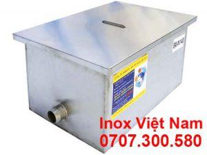 Bể tách mỡ inox 140 lít giá tốt, bể tách mỡ inox công nghiệp 140 lít lắp đặt nổi giá xưởng.