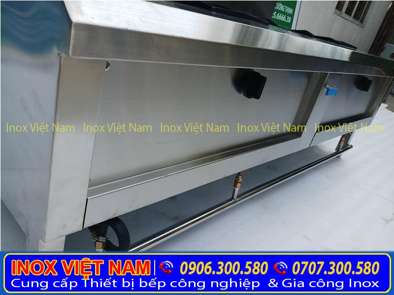 Liên hệ mua bếp công nghiệp inox 2 họng giá gốc tại xưởng sản xuất Inox Việt Nam.