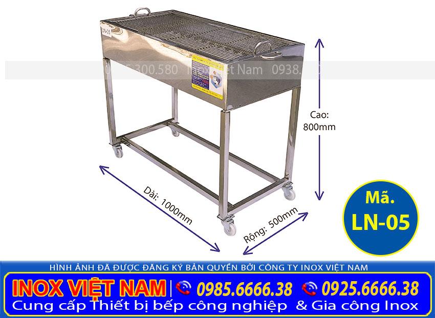Bếp nướng than hoa không khói ngoài trời, bếp nướng inox than hoa giá tốt tại IVN.