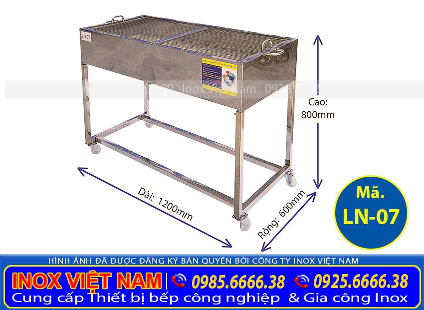 Bếp nướng than inox công nghiệp giá tốt tại xưởng Inox Việt Nam TP HCM.