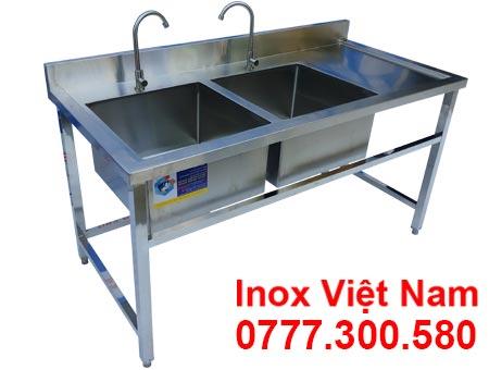 Chậu rửa công nghiệp inox đôi cánh phải giá tốt tại xưởng sản xuất Inox Việt Nam. Liên Hệ Mua Ngay.