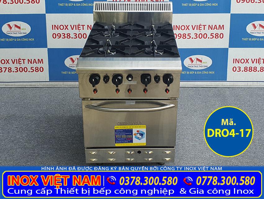 Giá bán bếp âu 4 họng có lò nướng Berjaya DR04-17 Liên hệ Inox Việt Nam.