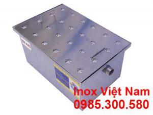 Báo giá bể tách dầu mỡ inox âm sàn 140 lít, bể tách dầu mỡ inox 140 giá tốt lắp đặt âm.