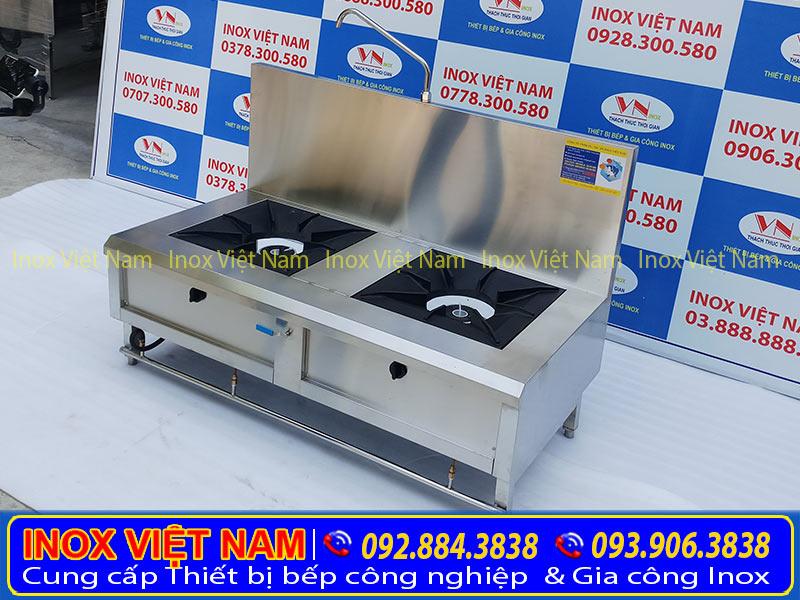 Giá bếp hầm công nghiệp inox 2 họng, bếp inox công nghiệp loại 2 họng, bếp hầm inox công nghiệp giá tại xưởng Inox Việt Nam. Liên hệ Ngay.