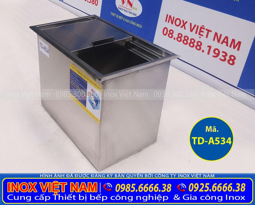 Báo giá thùng đá âm bàn quầy bar TD-A534 uy tín chất lượng tại xưởng sản xuất của chúng tôi Inox Việt Nam.