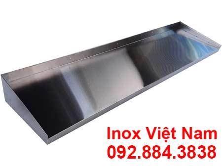 Kệ inox treo tường 1 tầng giá tốt với chất liệu inox 304.