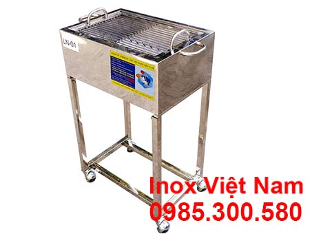 Lò nướng thịt bán cơm tấm bằng inox 201.