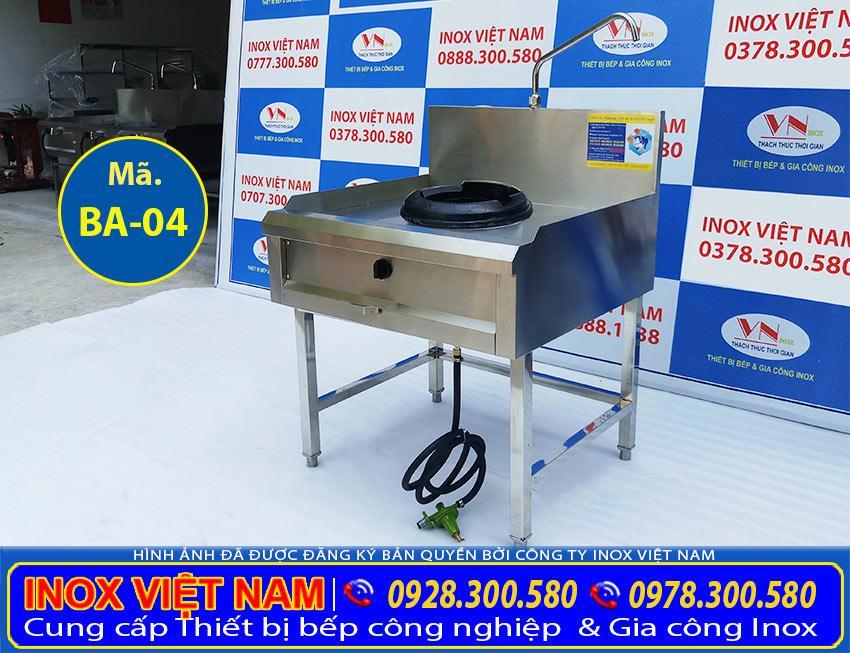 Thiết bị bếp á công nghiệp 1 họng kiềng gang, bếp công nghiệp inox 1 họng kiềng gang giá tốt tại xưởng Inox Việt Nam.