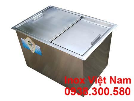 Thùng chứa đá inox âm bàn quầy bar tại IVN, địa chỉ mua thùng đá inox uy tín chất lượng giá tốt.