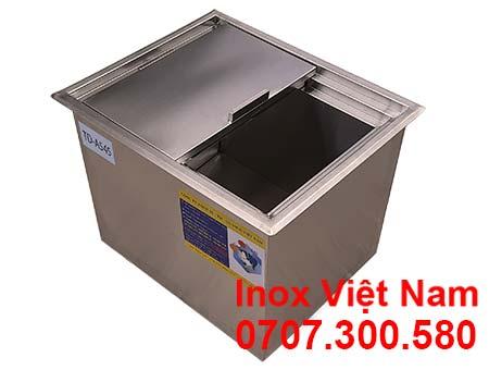 Thùng đá inox âm bàn mã TD-A545, địa chỉ mua thùng đá inox giá gốc tại xưởng.