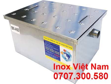 Thùng lọc mỡ inox 50 lít lắp đặt âm, thùng lọc mỡ inox lắp đặt âm 50 lít.