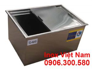 Tủ đá inox âm bàn quầy bar mã TD-A645, địa chỉ mua thùng đá inox các loại giá xưởng uy tín chất lượng tại IVN.