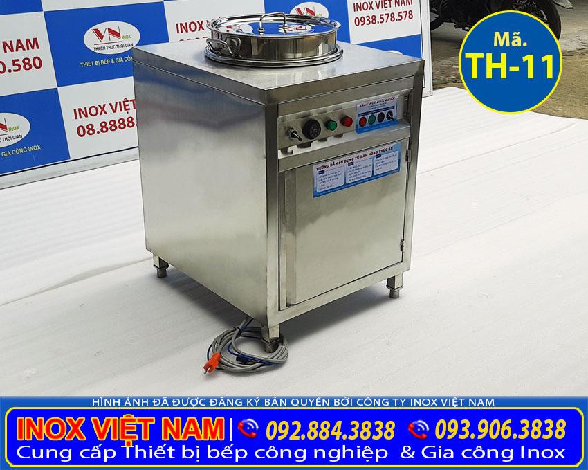 Tủ giữ nóng canh nồi inox 50 lít bằng điện, nồi hâm nóng canh giá tốt tại xưởng Inox Việt Nam.