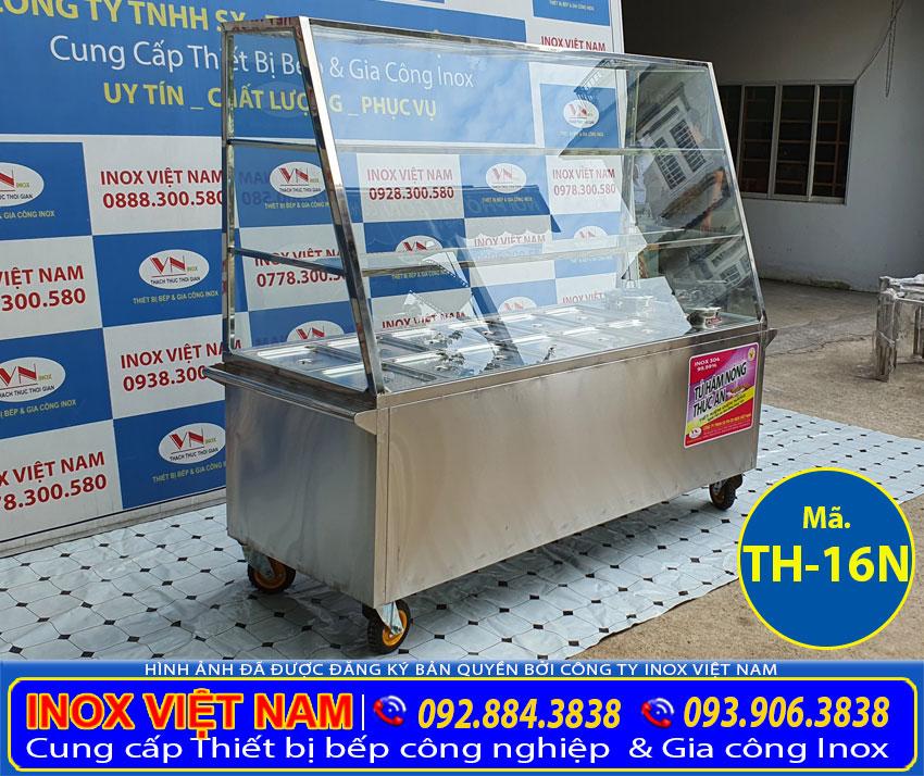 Địa chỉ mua tủ hâm nóng thức ăn có 12 khay 3 tầng và 2 nồi canh súp giá tốt uy tín tại Inox Việt Nam.