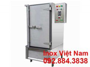 Tủ nấu cơm công nghiệp bằng điện và gas 50 kg gạo, tủ cơm 50 kg gạo sử dụng điện và gas giá tốt tại Inox Việt Nam.