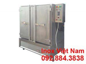 Tủ nấu cơm công nghiệp 80kg dùng điện và gas, tủ hấp cơm 80kg gạo sử dụng điện và gas giá tốt tại xưởng Inox Việt Nam.