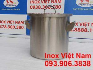 Xoong nồi inox công nghiệp, nồi hầm inox công nghiệp sử dụng gas giá tốt tại xưởng Inox Việt Nam.