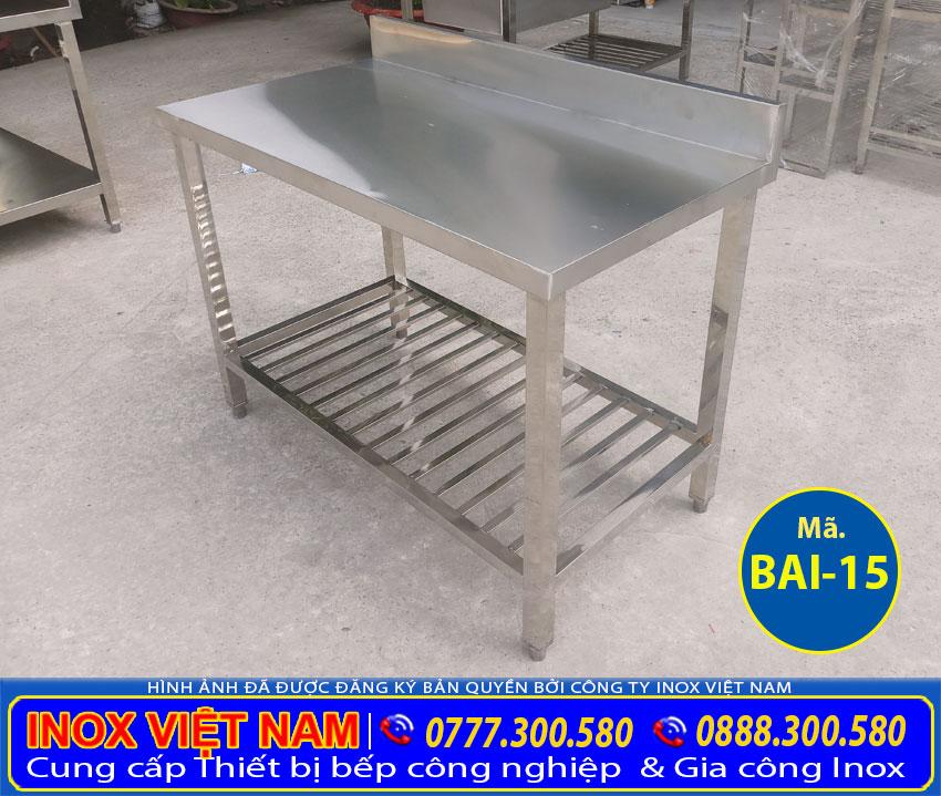 Bàn inox công nghiệp giá tốt tại Inox Việt Nam.