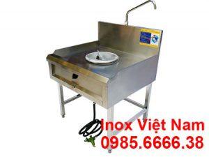 Bảng giá bếp khè công nghiệp inox 1 họng kiềng tô, bếp công nghiệp inox 1 họng kiềng tô giá xưởng.