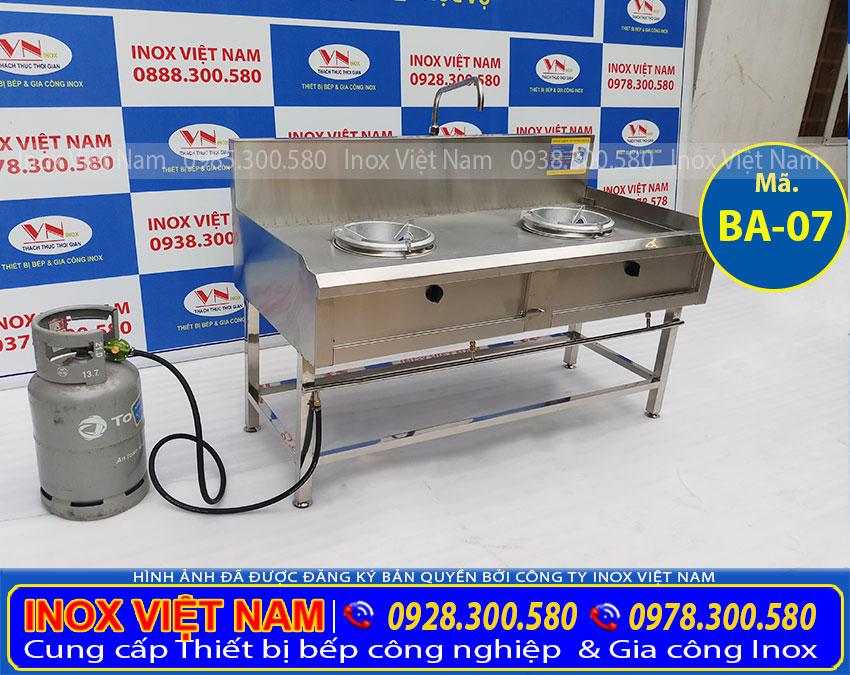 Báo giá bếp công nghiệp inox 2 họng kiềng tô, bếp á công nghiệp inox 2 họng kiềng tô giá tốt tại Inox Việt Nam.
