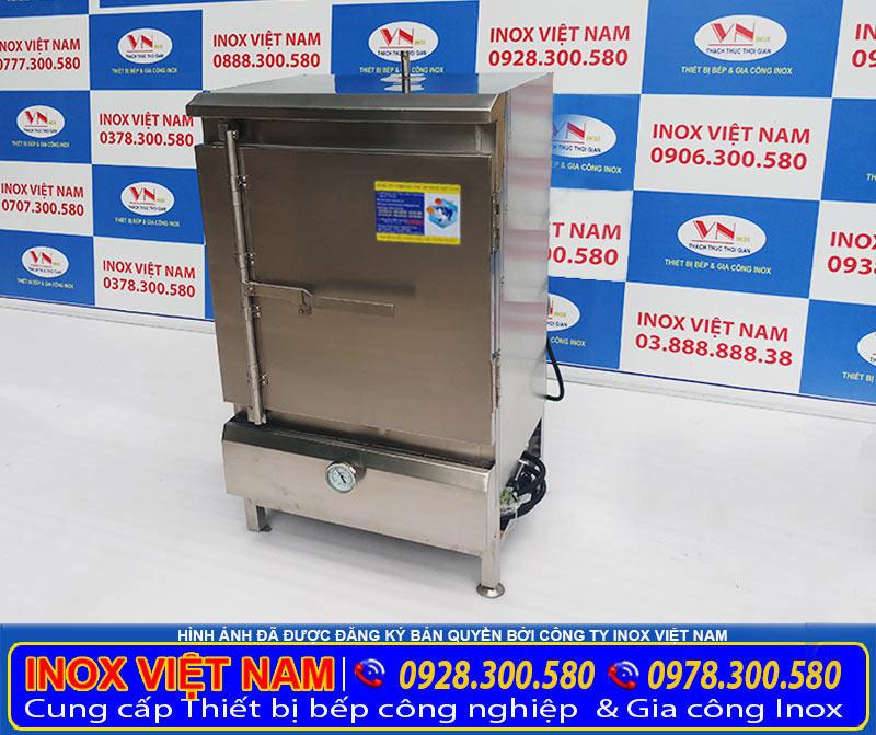 Báo giá tủ hấp cơm công nghiệp bằng điện gas 30 kg, tủ nấu cơm công nghiệp 30 kg gạo dùng gas tại xưởng Inox Việt Nam.