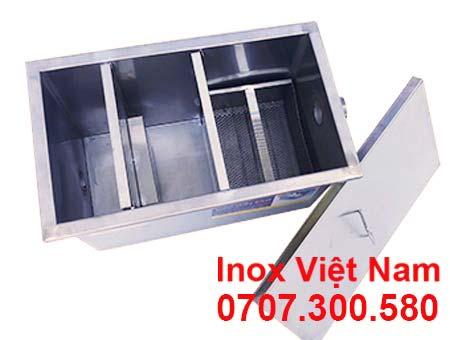 Bể tách mỡ 30 lít, bể tách mỡ inox 30 lít lắp đặt nổi giá tốt tại Inox Việt Nam.