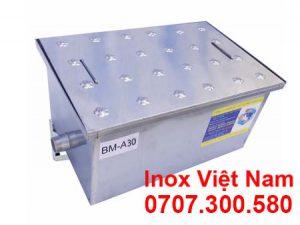 Bể tách mỡ inox âm sàn 30 lít, bẫy mỡ inox âm sàn 30 lít áp dụng cho khu bếp gia đình giá tốt mua tại Inox Việt Nam.
