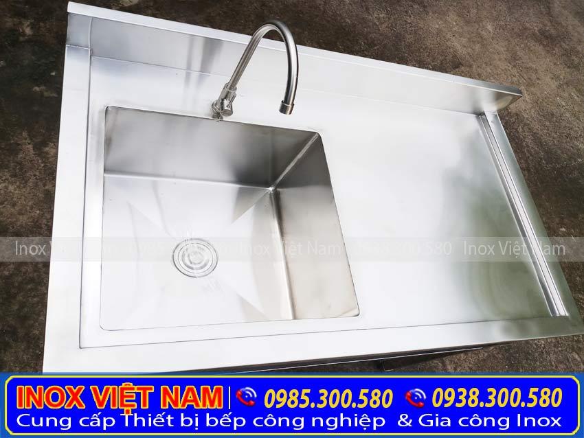 bồn rửa bát inox 1 ngăn lớn