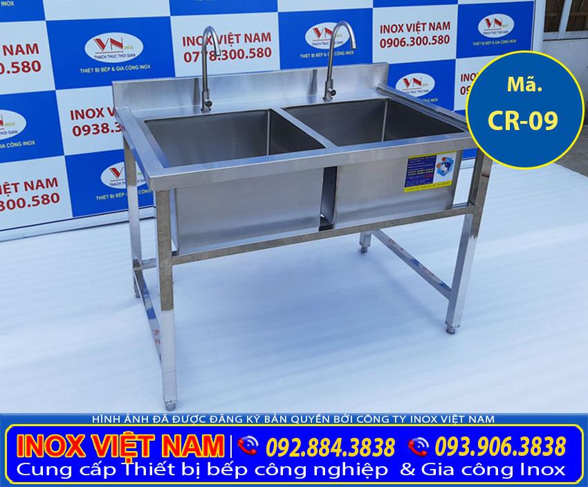 Sản phẩm chậu rửa 2 ngăn inox 304, chậu rửa inox công nghiệp 2 ngăn giá tại xưởng sản xuất Inox Việt Nam của chúng tôi.