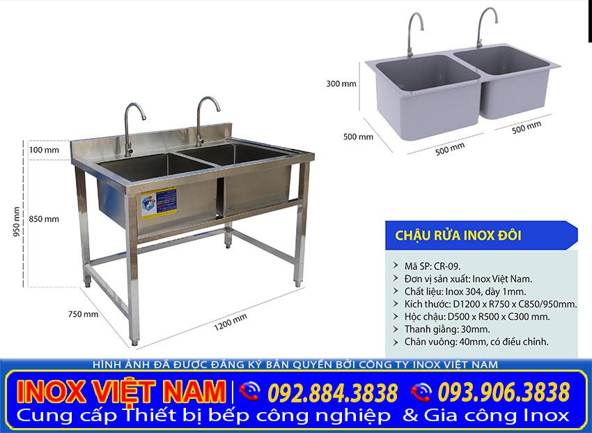 Địa chỉ bán chậu rửa inox 2 hộc giá tốt, bồn rửa tay inox công nghiệp, bồn rửa công nghiệp inox uy tín tại TP HCM và giao hàng tận nơi các tỉnh.