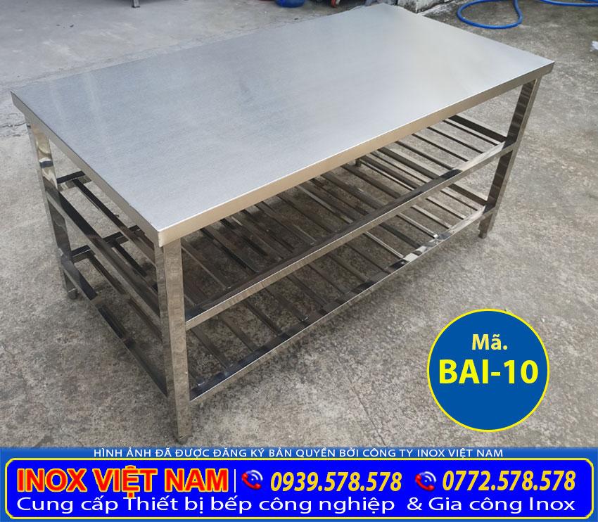 Địa chỉ mua bàn inox 304 nhà bếp. Liên hệ Inox Việt Nam.