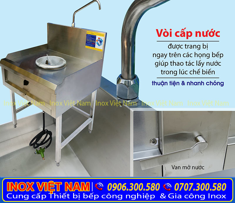 Giá bếp á 1 họng đốt kiềng tô tại IVN, sản phẩm bếp á công nghiệp uy tín chất lượng