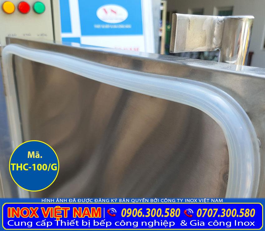 ron tủ cơm công nghiệp 100kg sử dụng gas uy tín chất lượng cao.