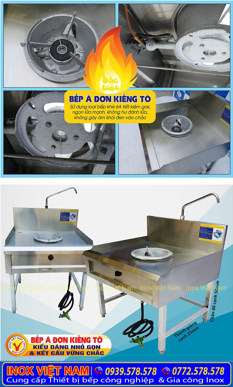 Thiết bị bếp á đơn kiềng tô giá tốt tại xưởng sản xuất Inox Việt Nam liên hệ mua ngay.
