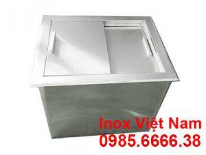 Thùng đá inox âm bàn, thùng chứa đá inox âm quầy bar