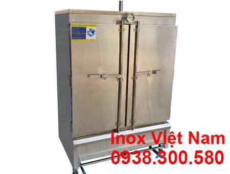 tủ cơm công nghiệp 100kg sử dụng gas.