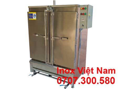 Tủ cơm công nghiệp 100kg sử dụng gas và điện.
