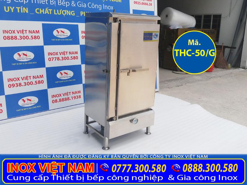 Tủ hấp cơm 50kg bằng gas, tủ hấp cơm công nghiệp bằng gas 50kg giá tốt tại Inox Việt Nam.