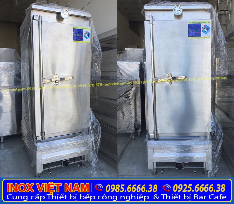Địa chỉ mua tủ cơm 50 kg gạo dùng gas, tủ nấu cơm công nghiệp dung tích theo khay hoặc theo yêu cầu liên hệ Inox Việt Nam ngay.
