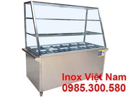 Tủ trưng bay cơm hâm nóng thức ăn 12 khay 3 tầng giá tốt tại đơn vị uy tín Inox Việt Nam giá gốc do chúng tôi sản xuất.