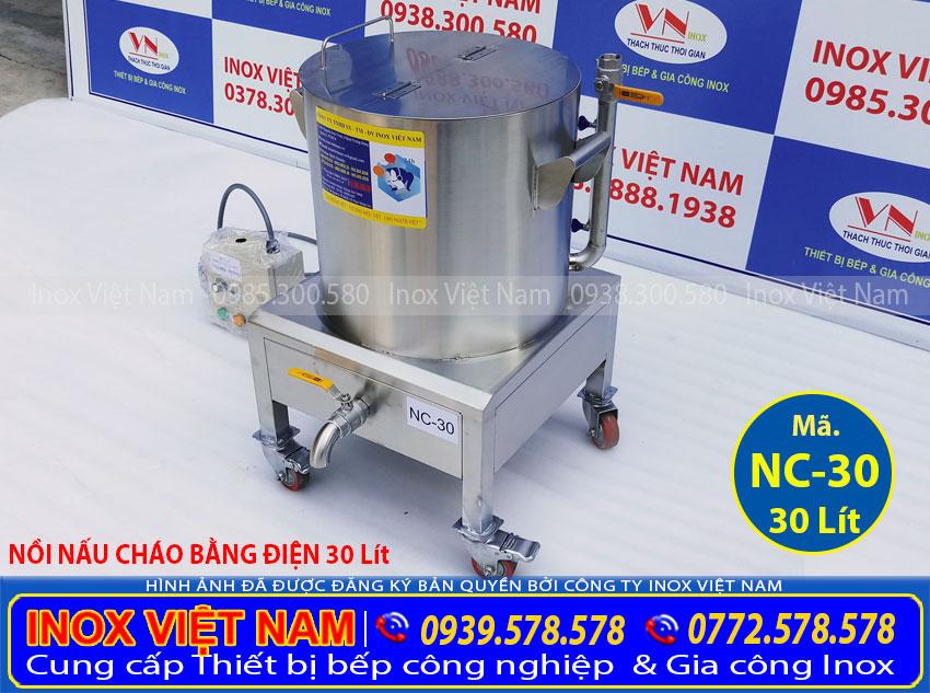 Nồi nấu cháo công nghiệp 30L, nồi điện nấu cháo loại 30L, nồi nấu cháo giá cực tốt và chất lượng tại IVN.