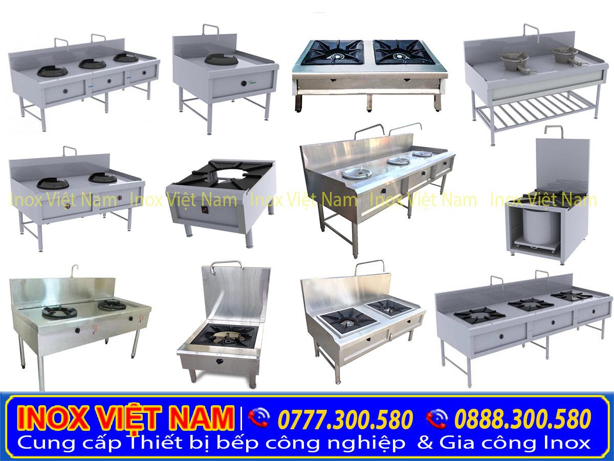 Thiết bị bếp công nghiệp, bếp inox công nghiệp, bếp nhà hàng giá tại xưởng sản xuất.