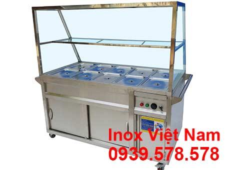 Báo giá tủ hâm nóng thức ăn 10 khay, quầy trưng bày hâm nóng thức ăn. Liên hệ Inox Việt Nam ngay.