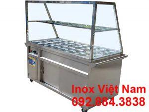 Mua tủ hâm nóng thức ăn 16 khay tại TP HCM, tủ trưng bày hâm nóng cơm giá tốt, tủ hâm nóng giá tại xưởng Inox Việt Nam.