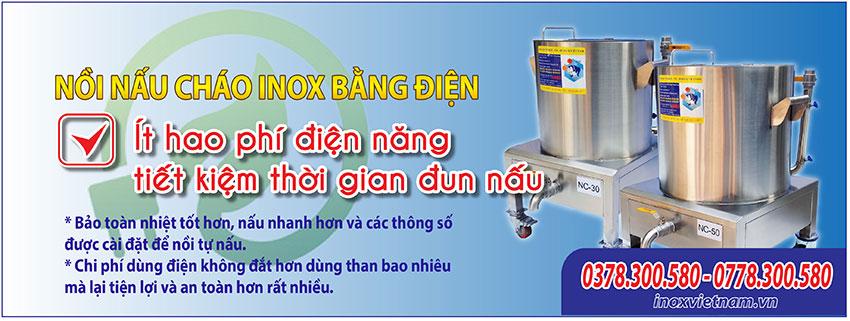 Nồi nấu cháo bằng điện công nghiệp, nồi điện nấu cháo sản phẩm tại Inox Việt Nam ít tiêu hao điện năng, mẫu mã sang trong đẳng cấp, bền đẹp, giá tốt tại xưởng sản xuất.