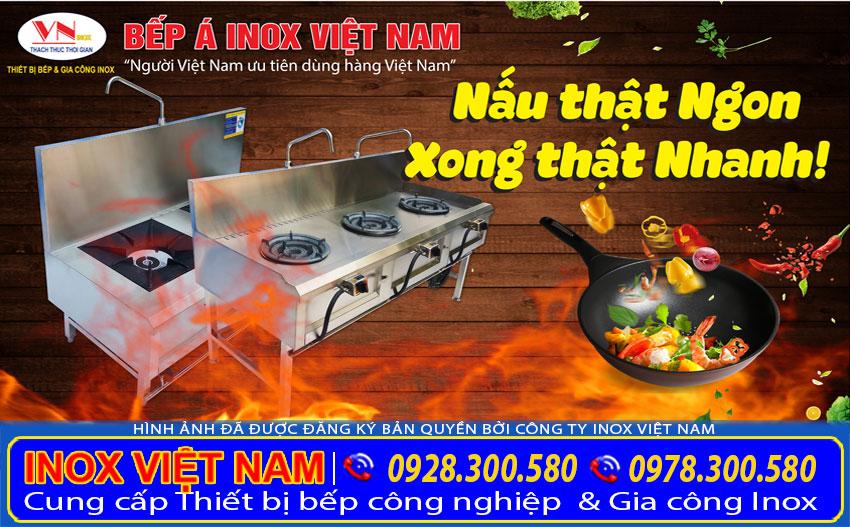 Báo giá thiết bị bếp á công nghiệp, bếp inox nhà hàng. Được Inox Việt Nam sản xuất mang ra thị trường tiêu thụ. Liên hệ chúng tôi ngay.