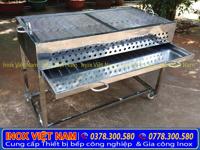 Bếp nướng than inox ngoài trời, lò nướng BBQ ngoài trời giá tốt tại xưởng Inox Việt Nam.